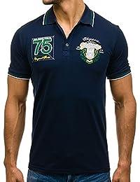 BOLF – Polo – T-shirt – Manches courtes – Slim fit – Classique – Motif – Homme [3C3]
