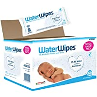 WaterWipes Baby Wipes Sensitive Newborn Skin, 720 Wipes (12 Packs of 60 Wipes)