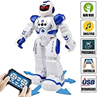 Remote Control RC Robot Toys - Sendida Dancing Robot Kit For Kids , Robotic Toys With Infrared Controller, Programmable, Senses Gesture, LED Eyes, Singing, Speaking, BEST Robot Toy For Boys And Girls