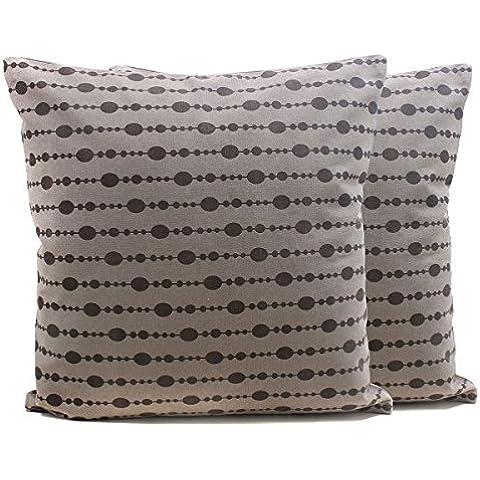 Set di 2 Cotone cuscini tessuto mano