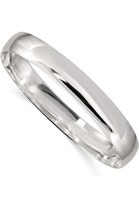 Sterling Silver Polished 4.5mm Slip On Bangle Bracelet