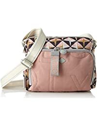 Oilily - Charm Geometrical Shoulderbag Shz, Shoppers y bolsos de hombro Mujer, Rosa (Rose), 12x18x24 cm (B x H T)