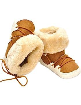 Domybest Baby Winter Warm Schnee Stiefel Lace Up weiche Sohle Stiefel Säugling Kleinkind-Schuhe