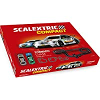 Scalextric-C10256S500 Circuito Pistas Tornado Chase, Color Rojo (Scale Competition Xtreme C10256S500)