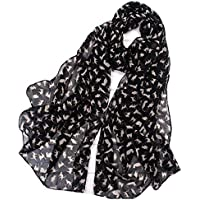 PoeHXtyy 1 Piezas de Mujeres Bufandas largas Gato Impresa Flor Suave Bufanda Elegante mantón de la Estola