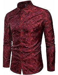 Camisas Estampadas Hombre Manga Larga AIMEE7 Camisas Hombre Silk Silk Camisas  Hombre Lisas Camisa De Manga Larga De Seda para… 7ab7b5e0f0d6e