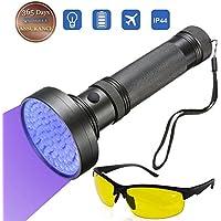 yomer 100LED ultravioleta luz negra UV luz linterna psicológico de la mascota manchas protección, negro