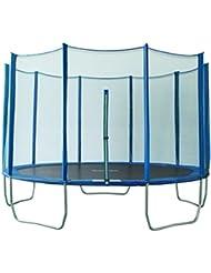 SixBros. Sixjump 3,65 M Polygone Trampoline de jardin bleu Certifié par Intertek / GS - Filet de sécurité - PB365/2051