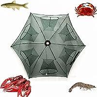 RUNGAO Piège à pêche Filet de pêche pliable rétractable automatique avec 6 trous pour la pêche au poisson crevettes crabes