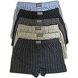 EDGE 99 Boxer Shorts Mens, Mens Underwear Trunks Multipack, Pack of 6 Boxer Shorts, Mens Underwear Cotton Rich Loose Boxers,