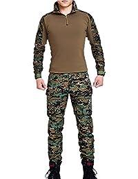 Vividda Hommes Tactique EDR Combat Uniforme Veste Chemise & Pantalons Costume Armée Militaire Airsoft Paintball Chasse Tournage Guerre Jeu