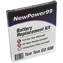 TomTom GO 500(2013) batería de repuesto Kit con Video de Instalación, Herramientas, y de larga duración.