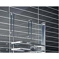 duschkabinen hngeregal 3 etagen ohne bohren duschablage badregal duschregal auch in wei erhltlich - Seifenablage Dusche Ohne Bohren