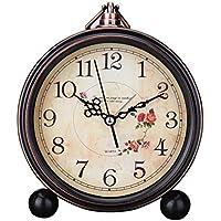 Reloj de estilo europeo, de Sincek, silencioso, estilo vintage, para la mesa de noche, para colgar en la pared, para llevar de viaje o como decoración para el hogar, regalo ideal, funciona con pilas, 12,7 cm