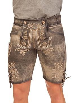 Trachten Lederhose kurz - RICHARD - grau, Größe 44