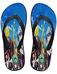 YiqiUime Assassination Classroom Flip-Flops Playa y la Piscina de Verano Zapatos Clásica Zapatillas cómodas de vanguardia for niños y niñas (Color : A05, Size : EU39 US7.5)