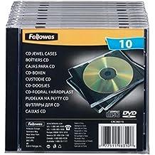Fellowes CD JEWEL CASE - Funda (Negro, Transparente)