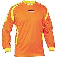 Derbystar Aponi - Camiseta de Portero para niño, Todo el año, Infantil, Color Naranja/Amarillo, tamaño 116