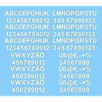 Amazonit Lettere Adesive 20 50 Eur Decalcomanie E Adesivi