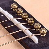 RoadRomao 6 Pines de latón sólido pasadores de Puente para Cuerdas de Guitarra acústica Accesorios DIY
