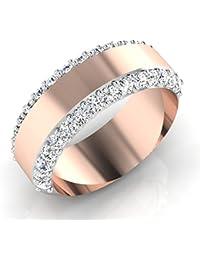 IskiUski The Ezhilan Gold Ring 18Kt Swarovski Rose Gold Ring Rose Gold Plated For Women