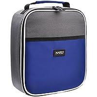 Preisvergleich für Kato Thermo-Isolierte Lunchtasche Kühler Tote, Outdoor Sports Tragbare Lunchbox mit Dual Reißverschluss und Tasche Vorne für Damen und Herren The Size for Most Blau