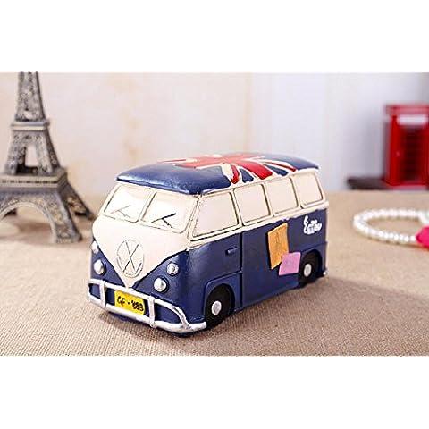 GYN Creatividad Reino Unido bandera autobús resina piggy Banco de dinero moneda Banco (rojo, azul) , blue
