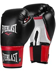Everlast Pro Style Training Guantes, Hombre, Negro /Rojo, 39,8 Cl