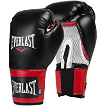Everlast Pro Style Training Guantes, Hombre, Negro /Rojo, 39,8 Cl