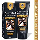 Mountainor Activated Charcoal Peel Off Black Mask - Blackhead whitehead remover, Deep Pore Cleansing for Face Nose Acne Pimple Oily Skin Remover- 60g