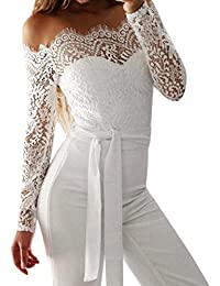 ansenesna jumpsuit damen sommer lang elegant weites bein playsuit off shoulder langarm abendmode fur hochzeit party
