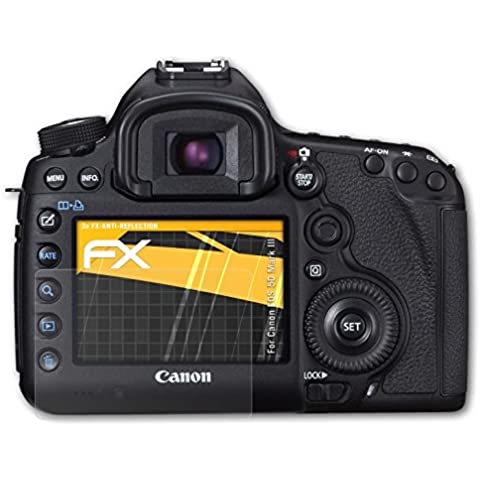 atFoliX Película Protectora Canon EOS 5D Mark III Lámina Protectora de Pantalla - Set de 3 - FX-Antireflex