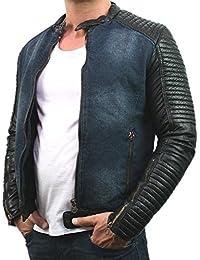 Stegol Herren Jeansjacke Übergangsjacke Jacke Bikerjacke 9852, blau