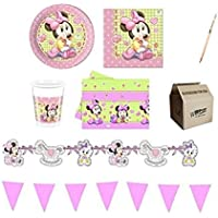 IRPot - KIT N 17 COORDINATO COMPLEANNO MINNIE BABY