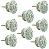 JP Hardware Pack of 8 Ceramic Knobs for Cabinets & Cupboards| Drawer Pulls