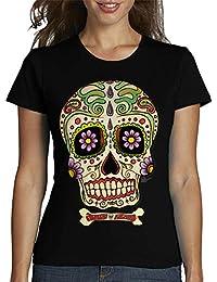latostadora - Camiseta Calavera Mexicana!!! para Mujer