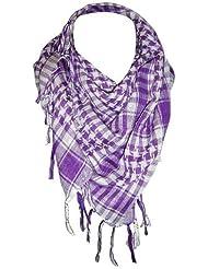 *** PROMOTION *** Foulard Palestinien - Keffieh - Chèche - Pashmina - Violet Mauve et Blanc