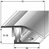 (clic sistema) - Perfil de transición (laminado / parquet), 11 - 15 x, 41 mm, Aluminio anodizado, bronce claro