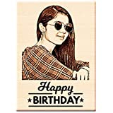 Incredible Gifts India Birthday Gift for Girls | Men | Women | Husband | Wife | Brother | Sister - Personalized Engraved Photo Frame (5 X 4 inches, Wood, Beige)