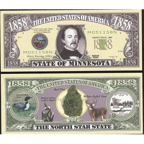Set of 10 Bills-1858 Minnesota State Bill