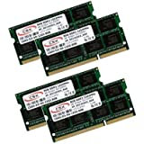 CSX PC3-10600S Lot de 4 barrettes de mémoire RAM DDR3-1333 SO-Dimm 1333MHz CL9 204 broches 4x8Go