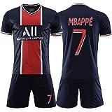 Heren voetbalshirt 7# Mbappé voetbal herdenkings jersey pak zacht en ademend klassiek trainingspak