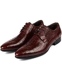 GRRONG Zapatos De Cuero De Los Hombres Vestido De Negocio Es Un Banquete