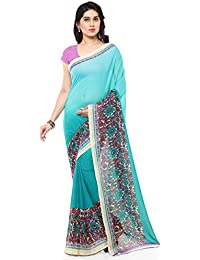 Kashvi Sarees Bhagalpuri Green & Multi Color Printed Saree With Blouse Piece ( SSC057_1 )