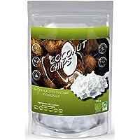Chips de coco ecológico 250gr Naturseed. Sin azúcares añadidos, 100% natural, sin aditivos ni conservantes. Haz tu propia Leche de Coco, Ebook con recetas de regalo