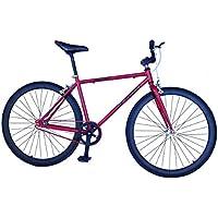 Helliot Bikes Fixie Tribeca H24 - Bicicleta Urbana, Color Rojo, Talla única