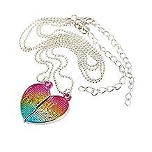6e2c16b7b60e Creativa Amistad collares colgante corazón collar de parejas de 2 PC