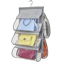 mDesign porta borse da armadio – è un comodo organizer appendiborse – il  salvaspazio pensile può 9baf20d87f1