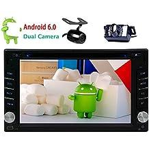 EinCar Pure Android 6.0 Doble 2 Din Car Dvd Reproductor de CD con 6.2 '' Car AutoRadio con pantalla táctil en el tablero de instrumentos del coche GPS receptor de radio Bluetooth / WiFi / 3G / 4G / OBD2 / Mirror-Link con cámara dual