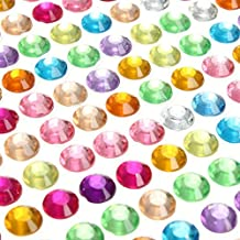 Parth Impex 1699pièces 3mm 4mm 5mm 6mm Bling Multicolore Autocollant Strass Feuille Acrylique Strass Jewel Gem Stickers pour ordinateur portable Scrapbooking Décorations DIY Arts Crafts Corps visage ongles